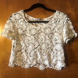 Express Lace / Crochet Crop Top - Size S